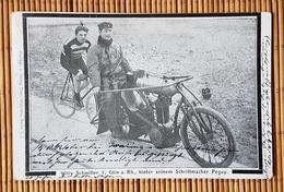 Willy Schmitter, Cöln Rhein, Hinter Seinem Schrittmacher Peguy, Gelaufen 1905 - Cyclisme