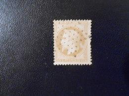 FRANCE YT28B  NAPOLEON III LAURE Type II 10c.bistre étoile Pleine - 1863-1870 Napoleon III With Laurels