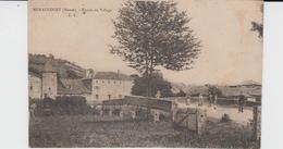 MEUSE - MENAUCOURT -  Entrée Du Village E.C  ( - Petite Animation Sur Le Pont - Timbre à Date De 1911 ) - Autres Communes