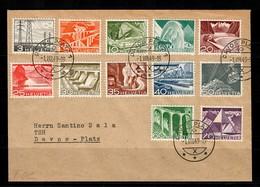 CH: Brief Von Davos-Platz Mit INr. 529-540 Von 1949, FDC - Ersttag - Suiza