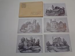 Belgique  België  ( 2271 )   Lebbeke  Serie Van 12 Postkaarten : De 12 Geslachten - Jubeleumuitgave 1108 - 1959 - Lebbeke