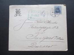 Besetzung 1. WK 1917 Rumänien Nr. 2 EF Geprüft Postüberwachungsstelle Umschlag Des Majestic Hotel Bucarest - Besetzungen 1914-18