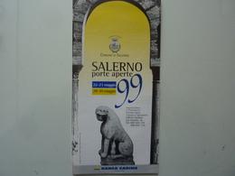 """Pieghevole Turistico """"SALERNO PORTE APERTE 1999 - BANCA CARIME"""" - Dépliants Turistici"""