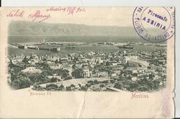 MESSINA PANORAMA / PIROSCAFO ASSIRIA FLORIO RUBATTINO VIAGGIATA 1902  (57) - Messina