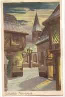 BA 1987 OLD FANTASY POSTCARD , PERIOD 1945-1970 , CIRCULATED , BONNE ANNEE , VIEWS And LANDSCAPES - Nouvel An