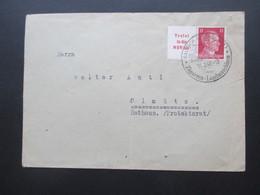 3. Reich 1942 Hitler ZD Tretet In Die NSV Ein! SST Bautsch (Ostsudetenland) Sommerfrische Zigarren - Landmaschinen - Storia Postale