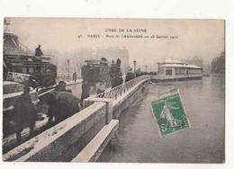 CPA France Paris - Crue De La Seine - Pont De L'Archevêché - 28 Janvier 1910  :  Achat Immédiat - (cd025 ) - Überschwemmung 1910