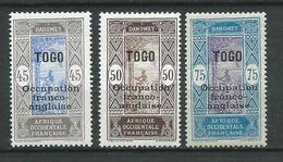 TOGO 1916 . N°s 95 , 96 Et 97 . Neufs * (MH) - Neufs