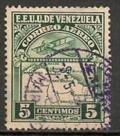 Timbres - Amérique - Venezuela - Aereo - 1938 - 5 Centimos - - Venezuela
