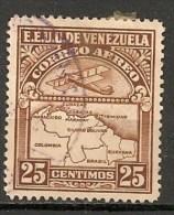 Timbres - Amérique - Venezuela - Aereo - 1938 - 25 Centimos - - Venezuela