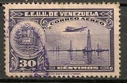 Timbres - Amérique - Venezuela - Aereo - 1938/39 - 30 Centimos - - Venezuela
