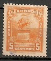 Timbres - Amérique - Venezuela - Aereo - 1947/49 - 5 Centimos - - Venezuela