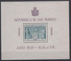 SAN MARINO - Michel - 1937 - BL 1 (MOOI) - (nr 234 >MNH**)/MH* - Blocs-feuillets