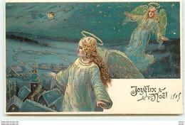 N°10936 - Carte Fantaisie - Joyeux Noël - Francken - Anges - Otros