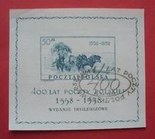 Poland 1958 - Used (o) - Special Postmark - Mi Bl. 22 , Yv Bl. 22 , Fi Bl. 21 --- Pologne Polen Polonia --- 419 Bl - Blocs & Feuillets