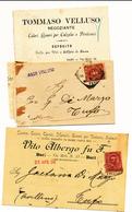 BARI PUGLIA 4 CARTOLINE PUBBLCITARIE - Storia Postale