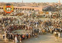 Marrakech - Place Djemaa El Fna Et Armoiries De La Ville Marrakech - Marrakech