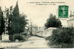N°2508 T -cpa Environs D'Angers -Pruniers -les Moulins à Vent- - Windmühlen