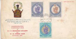 Iran - Lettre FDC De 1967 - Oblit Teheran - Couronnement Shah Arymehr Et Farah - Iran