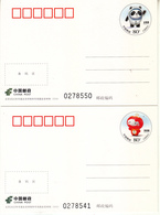 China 2020 PP318 Mascots Of The Olympic And Paralympic Winter Games Bijing 2022 Postcards - 1949 - ... Repubblica Popolare