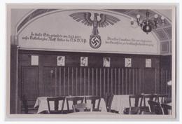 """DT- Reich (002114) Propaganda Sammelbild """"""""Deutschland Erwacht"""""""" Bild 5, Die Wiege Der Partei Nebenzimmer Des Sternecker - Briefe U. Dokumente"""