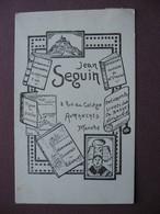 CPA 50 AVRANCHES Carte Publicitaire DESSIN ILLUSTREE Jean SEGUIN Ecrivain Editeur RARE Et ECRITE PAR Jean SEGUIN 1931 - Avranches
