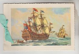 """CPSM ART PEINTURE REPRESENTATION TABLEAU MARINE - H.M.S """"ROYAL PRINCE"""" 2 Volets - Peintures & Tableaux"""