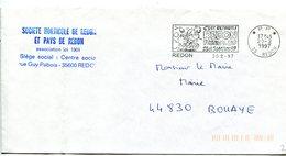 ILLE ET VILAINE De REDON Flamme En P.P. Sur Env. De 1997 - Postmark Collection (Covers)