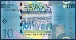 SAMOA 10 TALA P-39a SPORT RUGBY CHAMPIONS OF HONG KONG SEVENS 2008 UNC - Samoa