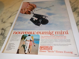 ANCIENNE PUBLICITE  CAMERA MINI EUMIG  1972 - Fotografia