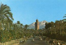 Marrakech - Avenue Mohammed V Avec Koutoubia - Marrakech