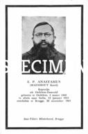 E.P. Anastasius - Maenhout Karel - Kapucijn - Oedelem - Beernem
