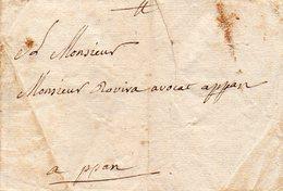 L.A.C. De CANET Pour ROVIRA PERPIGNAN Le 6/5/1752. - Poststempel (Briefe)