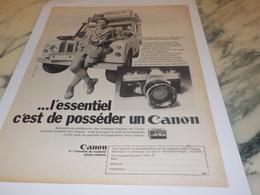 ANCIENNE PUBLICITE POSSEDER UN  CANON 1972 - Autres