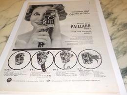 ANCIENNE PUBLICITE NOUVEAU PRIX CAMERA D8L PAILLARD  1961 - Autres
