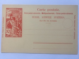 Switizerland Carte Postale `Jubile De L`union Postale Universelle` 1875-1900 Unused 10 Centime Rate - 1882-1906 Armoiries, Helvetia Debout & UPU