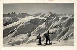 Themes Div-ref EE123-sports D Hiver -ski - Skieur- Skieurs Hors Piste -fontcouverte -savoie -massif L Ouillon -arves- - Wintersport