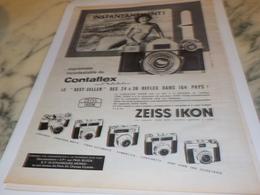 ANCIENNE PUBLICITE INSTANTANE  APPAREIL PHOTO ZEISS IKON 1961 - Autres