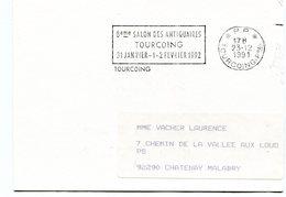 NORD De TOURCOING Flamme En P.P. Sur Imprimé De 1991 - Marcophilie (Lettres)