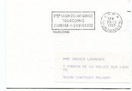 NORD De TOURCOING Flamme En P.P. Sur Imprimé De 1991 - Postmark Collection (Covers)