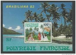 "Polynésie BF N° 7 XX  ""Brasiliana 83"",  Exposition Philatélique Internationale, Le Bloc Sans Charnière TB - Blocks & Kleinbögen"
