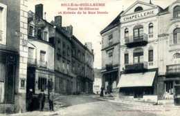 Sillé-le-Guillaume. Place St-Etienne Et Entrée De La Rue Dorée. (Chapellerie). - Sille Le Guillaume