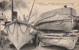 """LE HAVRE : Le Paquebot """"PARIS"""" De La Cie Gle Transatlantique. - Embarcations De Sauvetage. ( Plan Superbe.) - Port"""