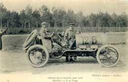 Circuit De La Sarthe. Juin 1906. Voiture Hotchkiss 12 B Au Pesage. - Le Mans