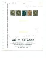 Belgique - COB 6, 10A, 11A (entamé), 12A (entamé) 14 Obl 71 Engis Sur Charnières - 1851-1857 Medaillen (6/8)