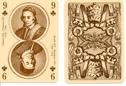 Carte à Jouer  Pape Benoît XIV  Benetto XIV  -  Clément XII Religion Playing Card - Speelkaarten