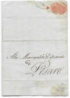 NAPOLEONE - PESARO - 22 MESSIDORO - AN.9 ( 11.7.1801 ). - ...-1850 Préphilatélie