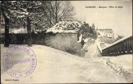 Cp Langres Haute Marne, Rempart, Effet De Neige, Winterpartie - France