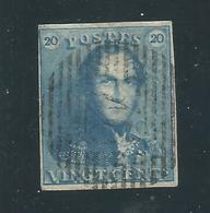 Belgique : 4 X N° 2 + 1 X N° 1 Oblitérés (TB) - 1849 Epaulettes