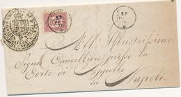 1876 CAPRI  NAPOLI CAMPANIA ISOLA DI CAPRI DC SU SERVIZIO DI STATO CON TESTO - Marcophilia